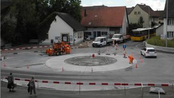 Am Dienstag waren noch Fertigstellungsarbeiten im Gang.