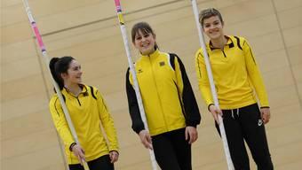 Ronja Zimmermann, Pascale Stöcklin, Moana Kleiner (v.l.n.r.) blicken den kommenden Schweizer Meisterschaften in St. Gallen freudig entgegen