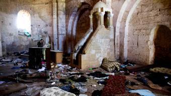 Die Kapelle auf der Kreuzritterburg Crac des Chevaliers in Syrien wurde geplündert.