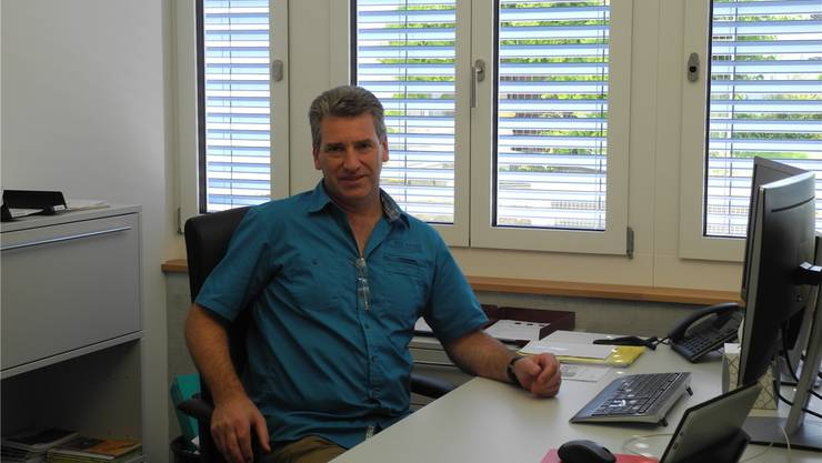 Daniel Suter in seinem neuen Büro. mf