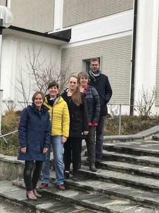 Die Projektgruppe LichtZeit der Katholischen Kirche Olten (von links): Trudy Wey, Sandra Rupp Fischer, Olivia Imhof, Antonia Hasler und Andreas Brun.