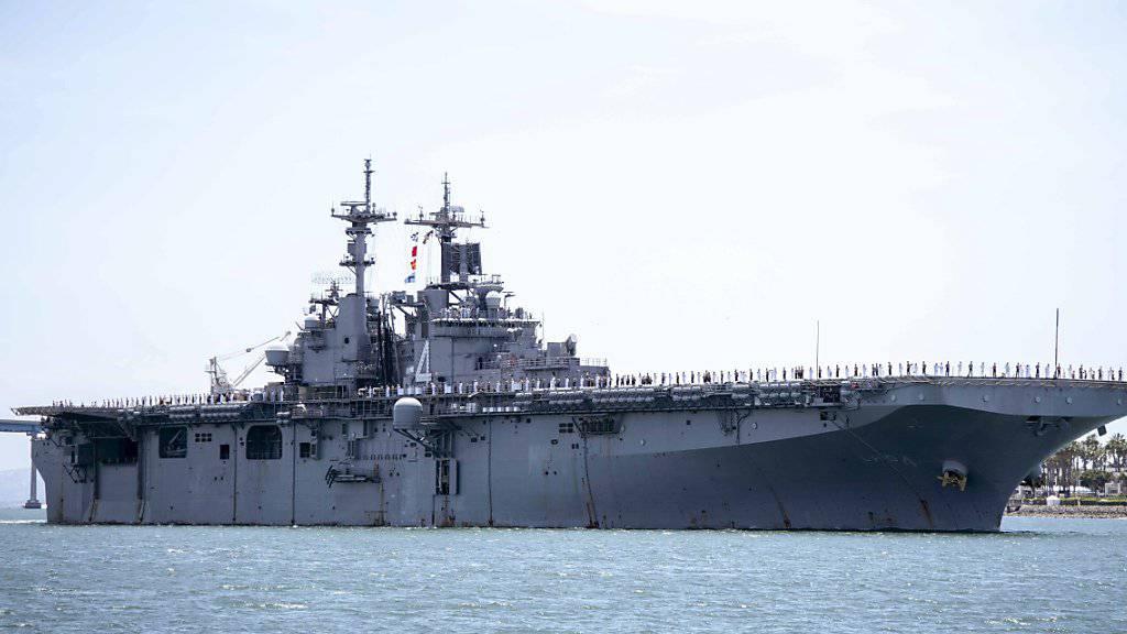 US-Marineschiff hat laut Trump iranische Drohne zerstört