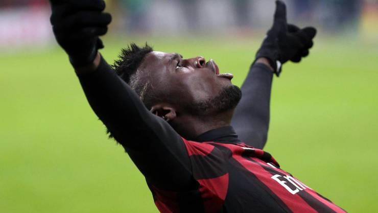 Beim 4:1 gegen Sampdoria zweifacher Torschütze für Milan: Mbaye Niang