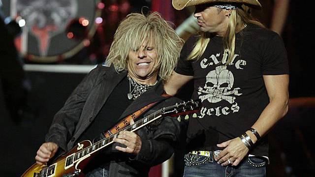 Michaels (rechts) auf der Bühne: Die Ursache für seine Hirnblutung ist nicht klar