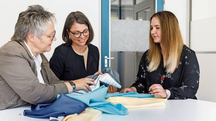 Die drei Frauen an der Spitze der Bethge AG: Betriebsleiterin Kathrin Bohnenblust, Geschäftsleiterin Brigitta Mettler und Finanzchefin Ivana Martic (von links).