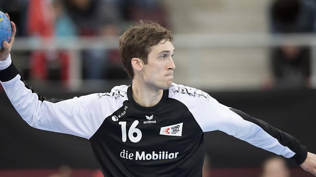 Neben zahlreichen Paraden steuerte Goalie Nikola Portner auch zwei Tore zum Sieg gegen Serbien bei