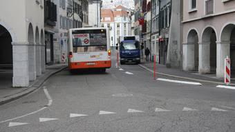 Die Umgestaltung der Solothurner Berntorstrasse beginnen am 16. April und dauern bis Ende August.