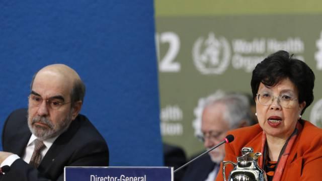 WHO-Chefin Chan und FAO-Direktor Da Silva an der Konferenz in Rom