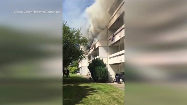 Kinder verursachten Wohnungsbrand