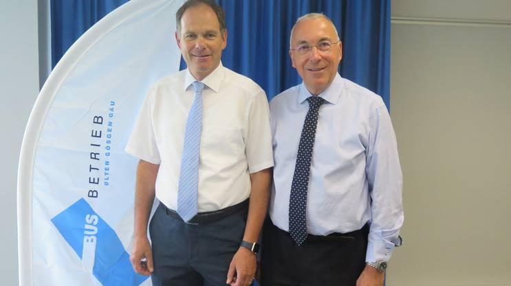Die Zugpferde des BOGG-Verwaltungsratspräsident Peter Schafer (links) und Direktor Toni von Arx.