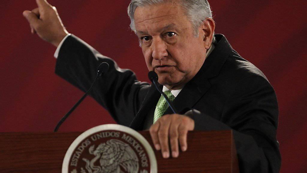 «Man weiss gar nicht, wo dieses Geld landet»: Mexikos Präsident Andres Manuel Lopez Obrador. (Archivbild)