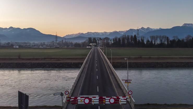 Die Grenze zwischen dem schweizerischen Oberriet und Meiningen in Österreich wurde im März 2020 geschlossen.
