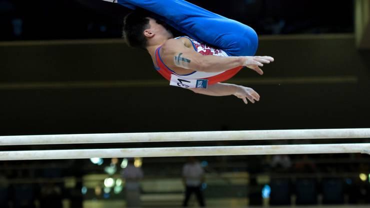 Artur Dalaloyan gewann nach der Silbermedaille mit dem Team Gold im Mehrkampf