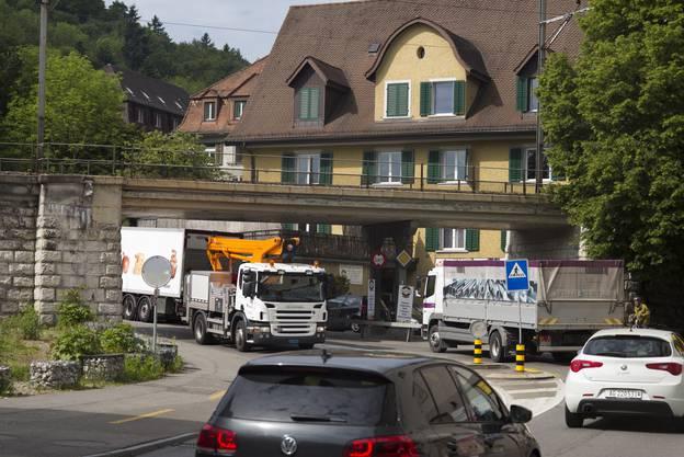 Die Mellingerstrasse in der Stadt Baden ist verkehrsmässig enorm belastet.