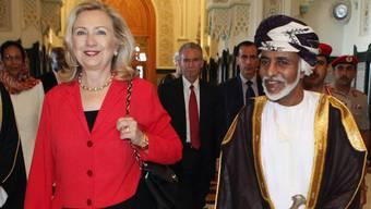 Hillary Clinton und Omans Herrscher Sultan Kabus