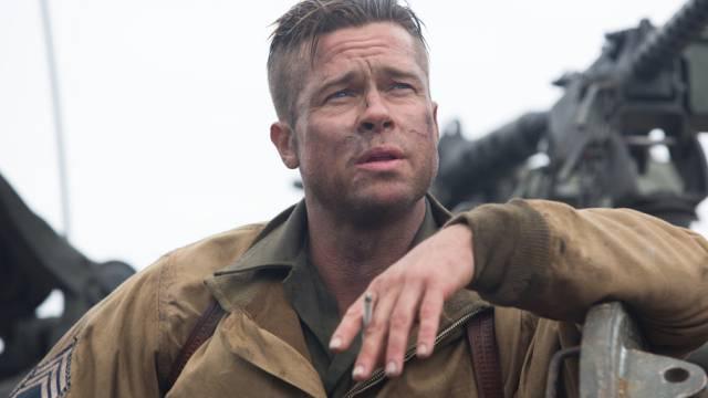 """Brad Pitt als Wardaddy in seinem neuen Film """"Fury"""" (Archiv)"""