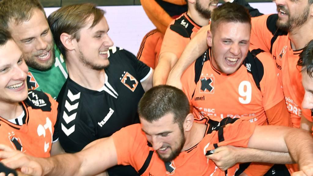 Der neue Cheftrainer Adalsteinn Eyjolfsson soll die Kadetten auch in der kommenden Saison jubeln lassen