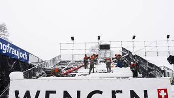 In Wengen ist für die Nacht vom Freitag auf Samstag starker Schneefall angesagt