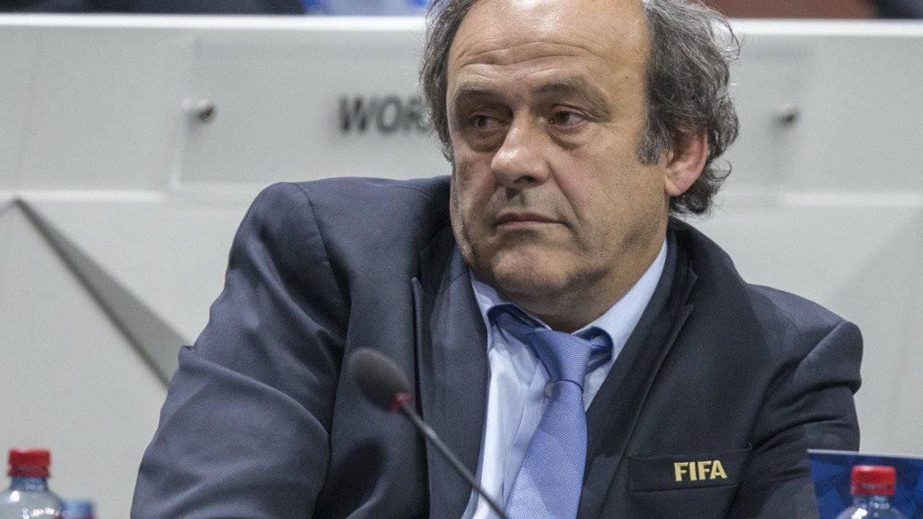 Michel Platini nahm trotz Sperre an einem offiziellen Fussball-Anlass teil