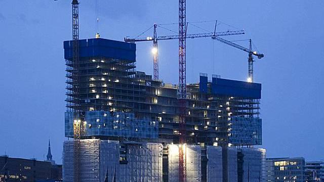 Die Elbphilharmonie im Bau