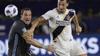 Zlatan Ibrahimovic (rechts) überzeugte in seiner ersten Saison in Nordamerika