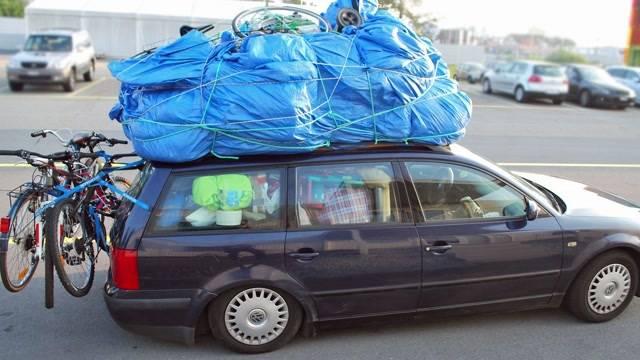 Mit Sack und Pack