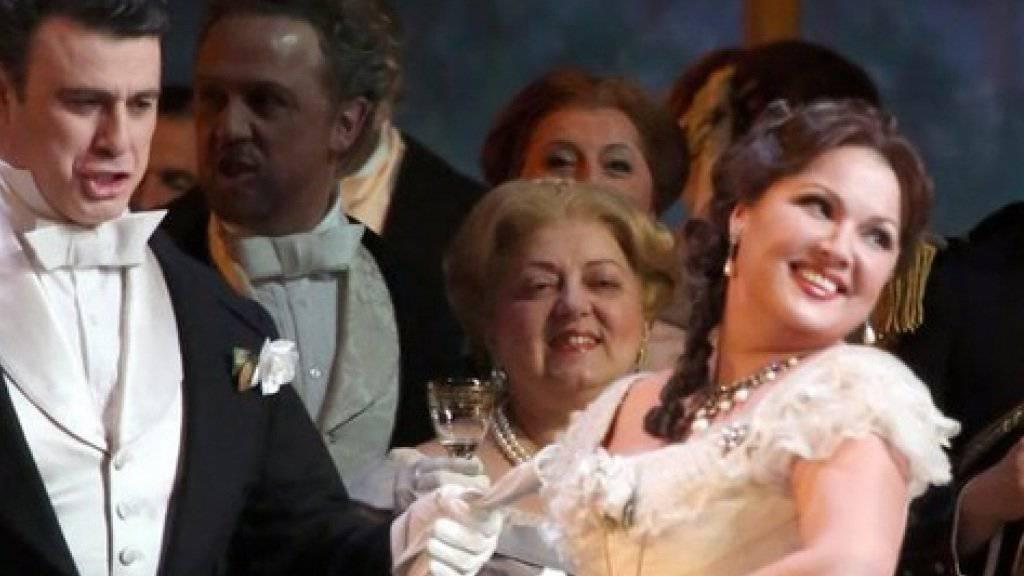 Anna Netrebko als Violetta in «La Traviata» erntete an der Scala 14 Minuten Applaus. (Handout)