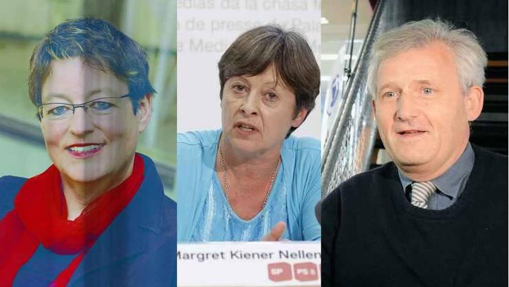 Wollen für die Berner SP in den Ständerat: Marti, Kiener und Stöckli
