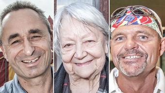 Die drei Finalisten des NAB-Awards (v.l.): Johannes Muntwyler, Irma Koch, Markus Ernst