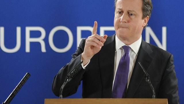 Der britische Premierminister David Cameron am EU-Gipfel vom Freitag