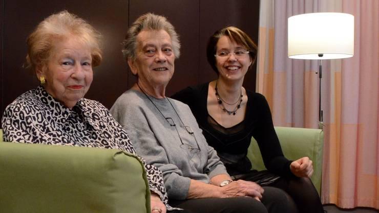 Drei Generationen –Rosa Suter, Monika Auer und Natalina Lombardi.