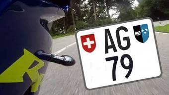 Ein Töfffahrer hat 16'200 Franken für das Kontrollschild «AG 79» hingeblättert.