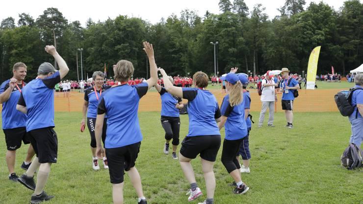 Am Freitagnachmittag massen sich Behindertensportvereine im Mannschaftswettkampf.