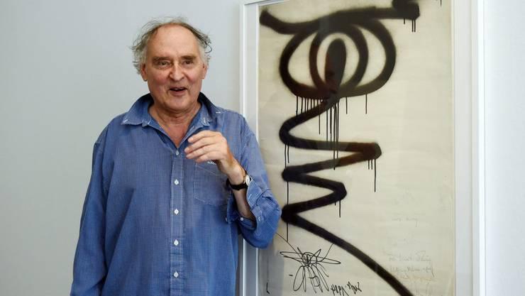 Für Künstler Harald Nägeli ist es gang und gäbe, dass er für seine Bilder angeklagt wird. bild: epa/dpa