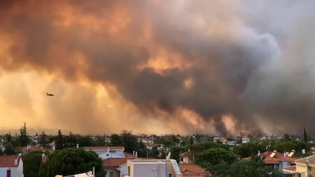 Griechenland: Waldbrände bedrohen jetzt auch Athen