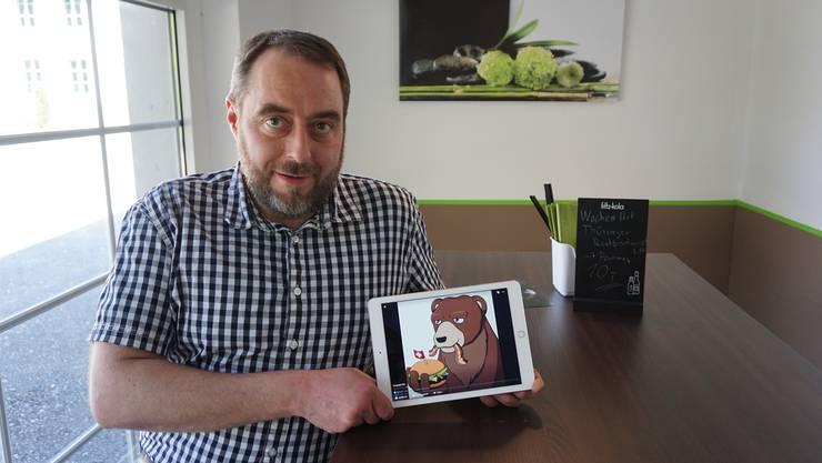 «Hungriger Bär»: Fast Food ist Sven Brendlins Leidenschaft.