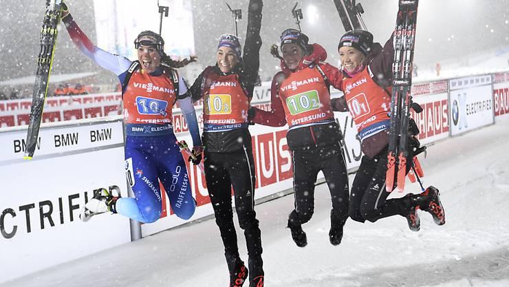 Die Schweizer Frauen-Staffel hat erneuten Grund zur Freude