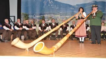 Die Darbietungen des Alphornduos stammten meist aus der Feder von Hans-Jürg Sommer.