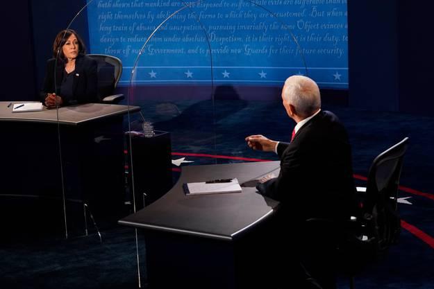 Bei der TV-Debatte der Vizepräsidentschaftskandidaten trat Harris gegen ihren Vorgänger Mike Pence an.