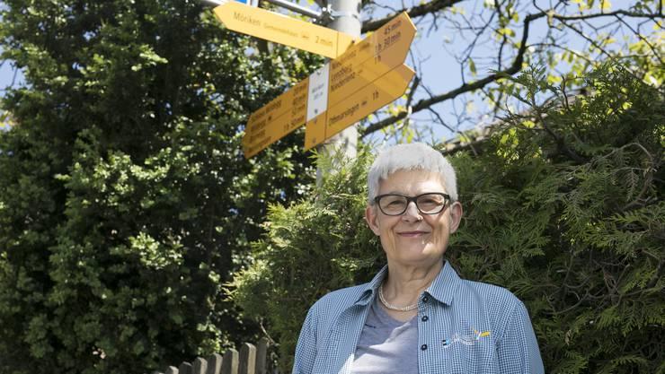 Wandern fängt für Esther Gebhard vor der Haustür an.