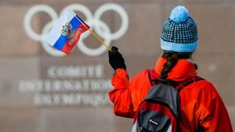 Wird in Pyeongchang nicht zu sehen sein: Die russische Flagge.
