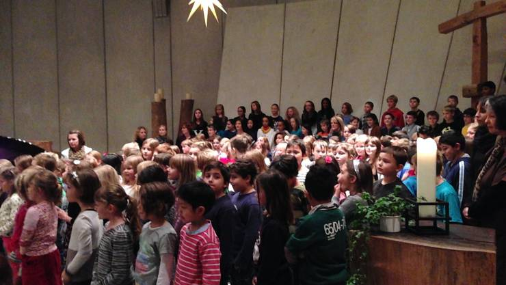 Offenes Weihnachtssingen der Primarschule Langendorf.