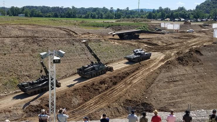 Am Freitag präsentiert das Schweizer Militär seine Panzer am «Convoy to Remeber»