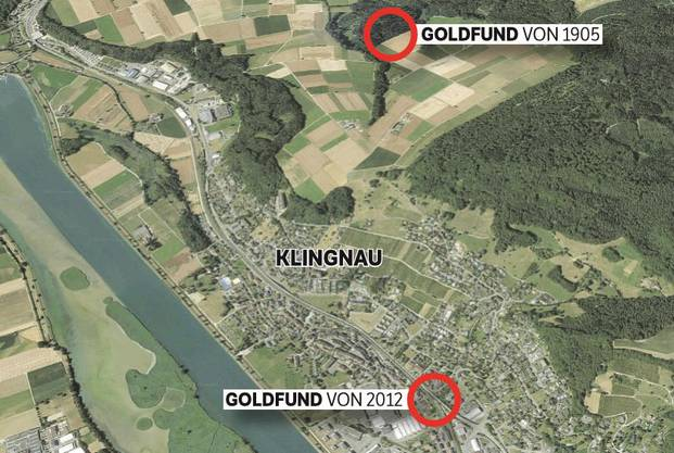 1905 fanden Holzhauer im Klingnauer Wald einen Schatz von 829 Goldmünzen. Mehr im Video (unten).