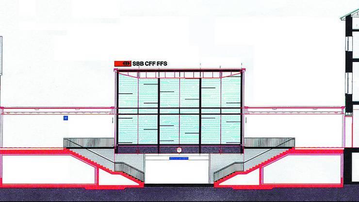 Augenfällig: Der Glaskubus wird das Bild des Oltner Bahnhofs prägen. (zvg)
