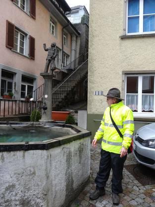 Brunnetour beim Narrenbrunnen in Laufenburg Baden.