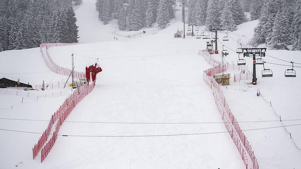 Anhaltende Schneefälle lassen in Lenzerheide keine Abfahrten zu