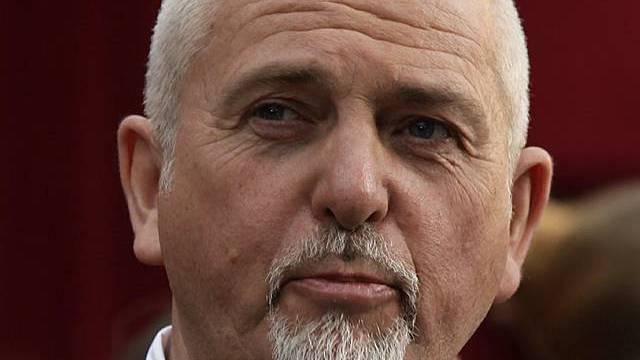 Der britische Musiker Peter Gabriel