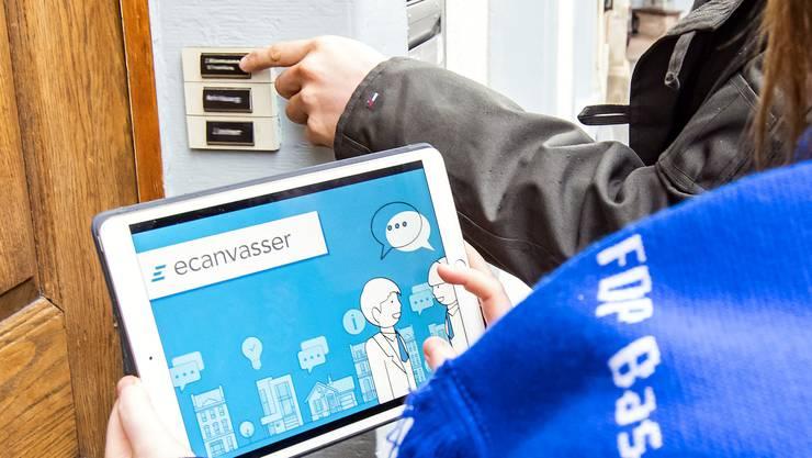 Nächste Woche starten die FDP-Sektionen Allschwil und Sissach mit ihrem Tür-zu-Tür-Wahlkampf mit Big Data-Unterstützung.