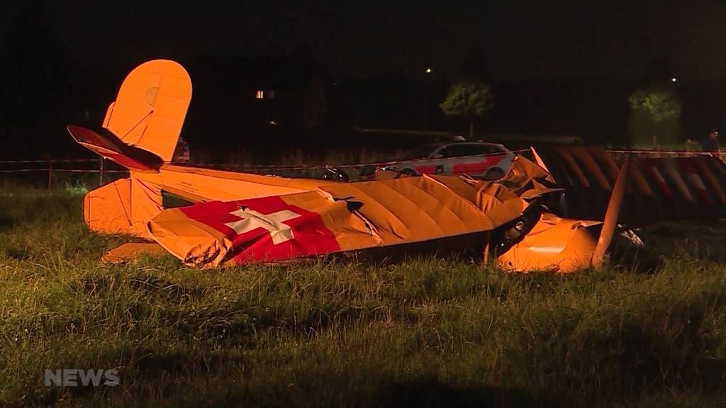 Flugzeugabsturz in Subingen fordert ein Toter und ein Schwerverletzter